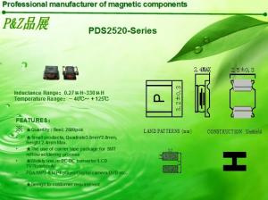 China PDS2520 Series 0.27uH~330uH Square Unshielded SMD Power Inductors on sale
