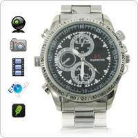 China 4GB HD 1280 x 960 Stainless Steel Spy Camera Watch with Hidden Camera on sale
