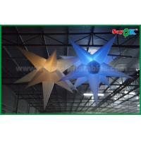 China Christmas Hanging Decoration Inflatable Led Star Light For Ceiling Decorative on sale