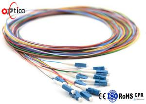 China Bundle LC Fiber Optic Pigtail 12 Color 9/125 Single Mode Simplex High Tensile Strength on sale