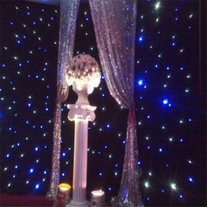 China High Quality Led Star Cloth diy fiber optic lighting curtain star light cloth on sale
