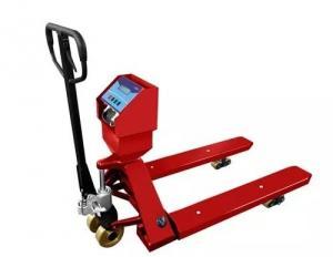 Quality Красной управляемая рукой тележка паллета вычисляет по макштабу сталь углерода 1 for sale