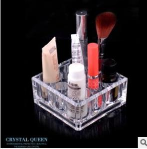China 1031 creative gift transparent make-up box 9 hole lipstick receive a case Crystal cosmetics box acrylic organize on sale