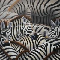 China Handmade Abstract Art Canvas Paintings Animal Zebra Print Canvas Wall Art on sale