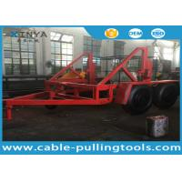 China 12 Ton Capacity Cable Drum Trailer Underground Cable Tools With Hand Brake and Air Brake on sale