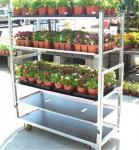 Multiple Shelf Heavy Duty Garden Nursery Transport Danish Flower Trolleys From Qingdao China