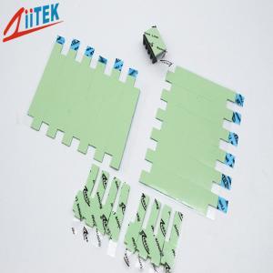 China protection conductrice thermique compressible verte TIF140-15-07S avec le caoutchouc de silicone rempli en céramique 1,5 avec Mk, 60shore00 on sale