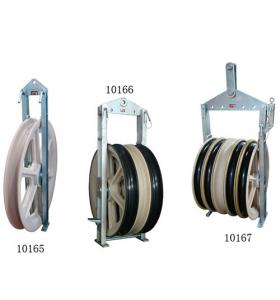 China Round Belt Cable Pulley Block Dia 1040mm 50-200KN For Protect Cable on sale