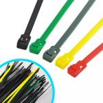 Multi Colored Commercial Electric Cable Ties , Weather Resistant Nylon Wire Ties