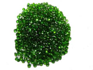 China 1.5mm Natural Chrome Diopside Jewelry Green Round For Chrome diopside Rings on sale