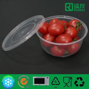 China Round PP Feature Microwave Takeaway Plastic Food box 625ml on sale