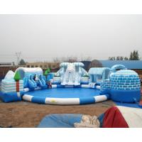 high quality snow design inflatable water park for kids and adult on land