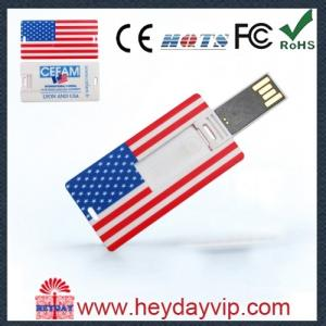 China OEM china factory credit card usb stick 2GB with printing logo for gift on sale