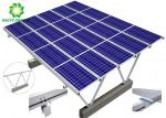 Water Repellent Aluminum Structure Solar Bracket Ground Mount Solar Racking Systems Excellent Stability