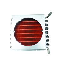 China 7mm Anodizing Copper  Window Flat Finned Tube Heat Exchanger on sale