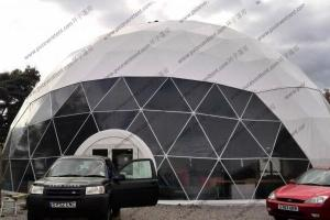 China Special Design Large Geodesic Dome Tent Steel Structure For Car Show on sale