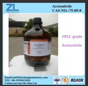 China HPLC grade Acetonitrile export to India market,CAS NO.:75-05-8 on sale
