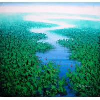 NEW PHOTOS OF Canvas Landscape OIL PAINTING CANVAS