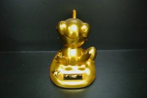 China Gold Small Electronic Toys / Solar Energy Toys With Happy Worker Logo 10CM on sale