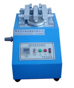 China Wear resistant Rubber Testing Machine , Leather & Cloth & Coating Abrasion Testing Equipment on sale
