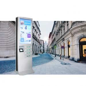 China Wifi 4 Doors Cell Phone Charging Stations , High Resolution Screen Lockable Phone Charging Station on sale