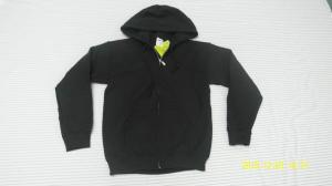 China Long Black Leisure Customized Sportswear Hoodie With Zip-Up on sale