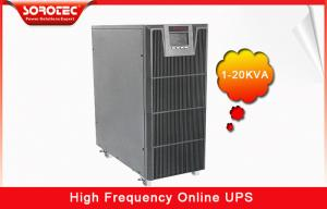 China 1Ph in / 1Ph out online High Frequency Ups with Large LCD display , RS232 / SNMP / USB Optional on sale