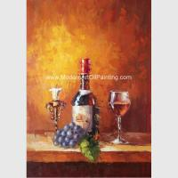 China Small Abstract Still Life palette knife art  Wine Bottle Fruit Customized size Color on sale