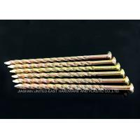 Yellow Zinc Plated Twisted Shank Nails / Wooden Pallet Nails