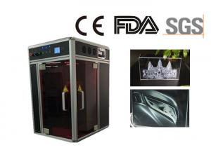 China Servo Motor Acrylic Laser Engraving Machine , 532nm Photo Crystal Laser Machine 3D on sale
