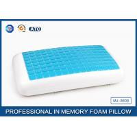 Traditional Blue PU Memory Foam Cooling Gel Pillow , Memory Foam Decorative Pillow