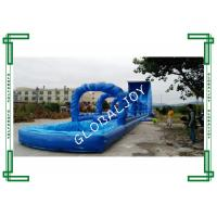 Blue Inflatable Wipeout Commercial Inflatable Water Slides Clearance Wavy
