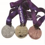 Metal medalhas olímpicas da participação, medalhas olímpicas da concessão do metal, ligue a medalha vazia dos esportes,