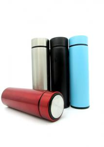 China Wide Mouth Stainless Steel Flask Bottle 500ml Skinny Soft Touch Surface on sale