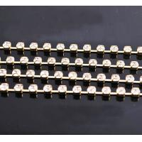 China Plated Gold Diamond D Cup Chain; SS14 Rhinestone Cup Chain Setting on sale