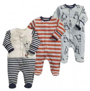 China Customized Color Soft Infant Baby Clothes Comfortable Cotton Baby Garment Unisex on sale