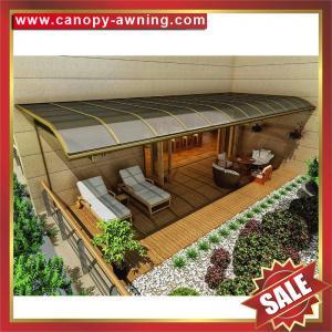 China outdoor villa house garden patio gazebo balcony sunshade aluminum polycarbonate pc awning canopy canopies cover shelter on sale