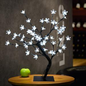 China Cherry Blossom Desk Top Bonsai Tree Light, Decorative Warm White Light, Black Branches, Perfect for Home Festival Party on sale