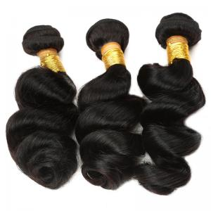 China 100% Human Virgin Peruvian Human Hair Weave Double Weft No Shedding on sale