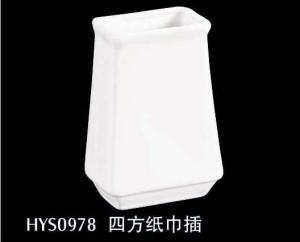 China paper towel holder new bone china with square shape on sale