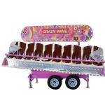 10 Seats Theme Park Rides Crazy Wave Ride With Trailer OEM Service