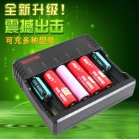 6 Slots AA AAA Lithium Ion Battery Charger , Universal Nimh Nicd Battery Charger