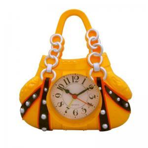 China luxury women handbag shape yellow alarm clock on sale