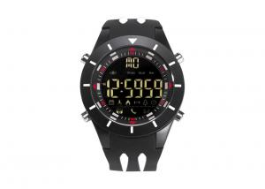 China Black Andriod Bluetooth Sports Watch PU Strap With App Remind Function on sale