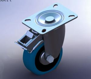 China Industrial Trolley Replacement Caster Wheels Swivel With Double Lock And Brakes on sale