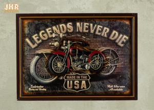 China Resin Motorcycle Wall Decor Antique Wood Pub Signs Decorative Wall Plaques on sale