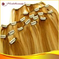 24 Inch Virgin 100 Human Hair Clip In Hair Extensions With Natural Wave
