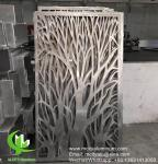 Tree Aluminum perforated sceen for balcony with 3mm metal sheet with powder coated
