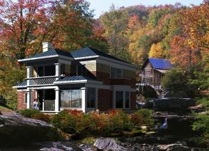 China Earthquake Proof Prefabricated Steel House , Wind Resistance Prefab Beach Villa on sale