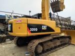 320D Used Crawler Excavator Caterpillar C6.4 engine 20T weight  with Original Paint